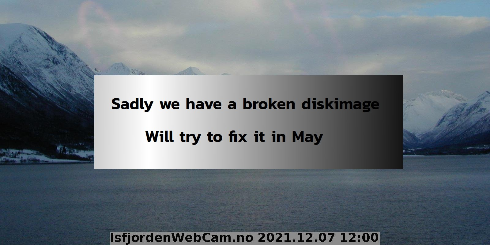 Webcam Isfjorden
